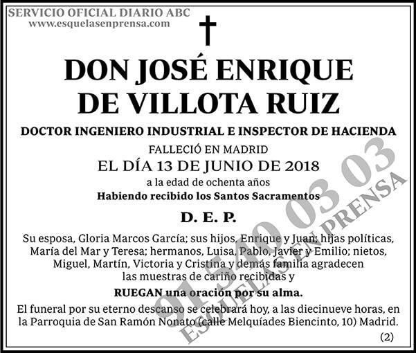 José Enrique de Villota Ruiz